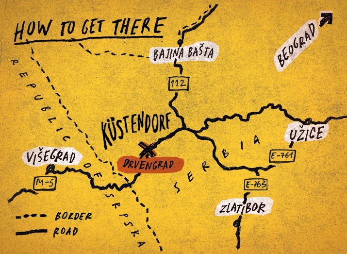 drvengrad mapa How to get there   Kustendorf   International Film and Music Festival drvengrad mapa