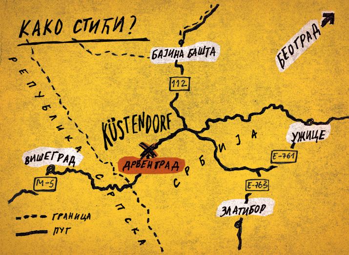 drvengrad mapa Како стићи?   Kustendorf   International Film and Music Festival drvengrad mapa