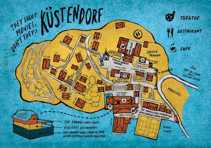 drvengrad mapa Мапа Дрвенграда   Kustendorf   International Film and Music Festival drvengrad mapa
